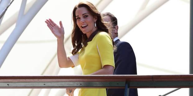 Kate : festival de sourires et de grimaces en jaune poussin à Wimbledon - La DH