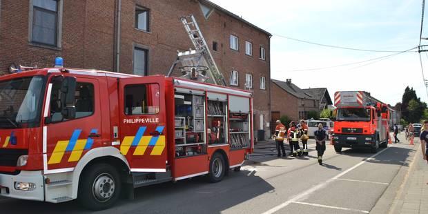 Incendie dans un immeuble à appartements à Florennes - La DH