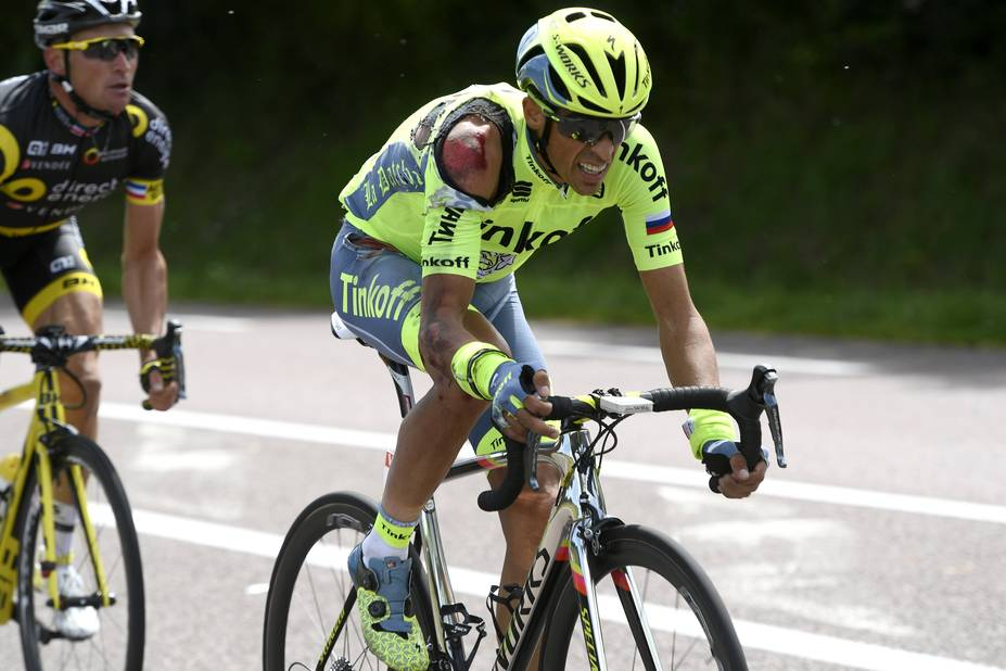 Contador au sol dès la première étape
