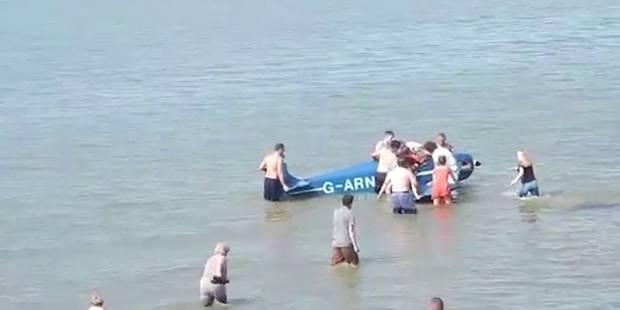 Le pilote de cet avion écrasé en mer est sauvé par les baigneurs - La DH