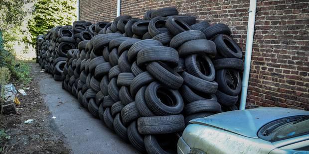 Frameries: Plusieurs tonnes de pneus en plein centre-ville - La DH