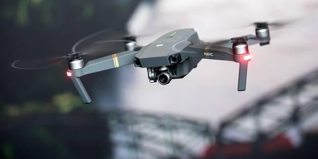 Migrants: la police fédérale utilise un drone pour surveiller la frontière franco-belge - La DH