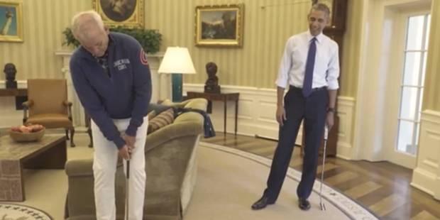 Barack Obama et Bill Murray font de la pub dans le bureau ovale - La DH