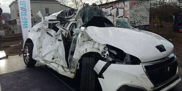 Bomerée : une voiture percutée par un train - La DH