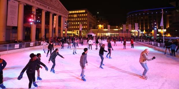 La patinoire des Plaisirs d'hiver sur la place de la Monnaie prolongée - La DH