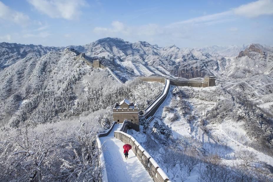 A 120 kilomètres de la ville, Huangyaguan, une petite section de la Grande Muraille. Le site se trouve sur une crête de montagne escarpée et abrupte