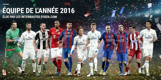 Pas de Diable rouge dans l'équipe UEFA de l'année 2016 - La DH