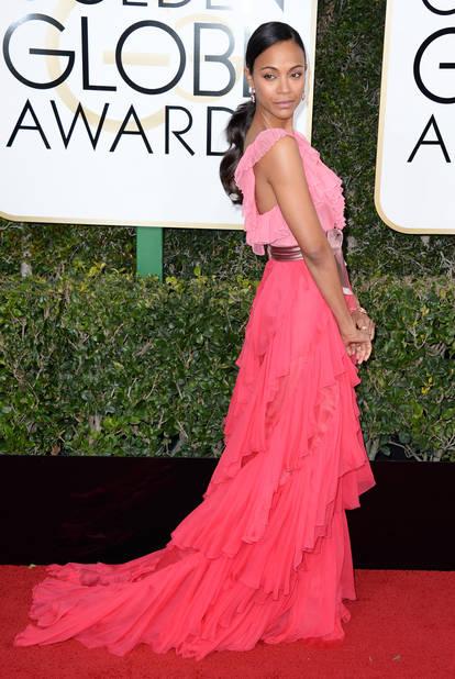 Les tops : Zoe Saldana, en Gucci