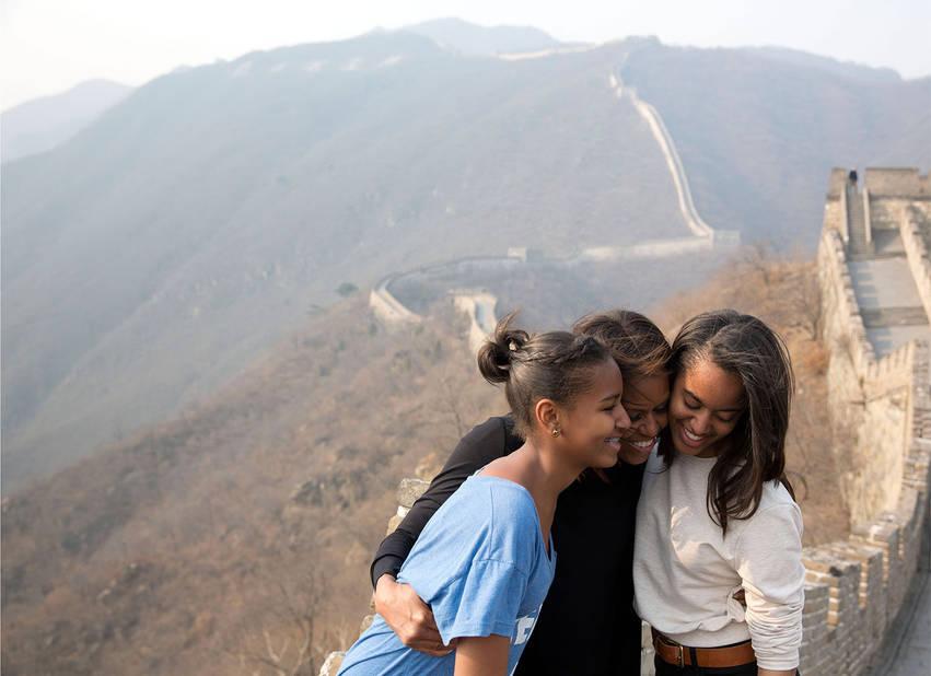 Sur la Grande Muraille de Chine en 2014