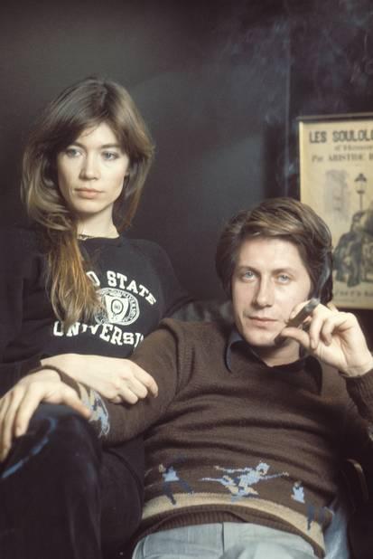 Avec Jacques Dutronc, dans les années 1970