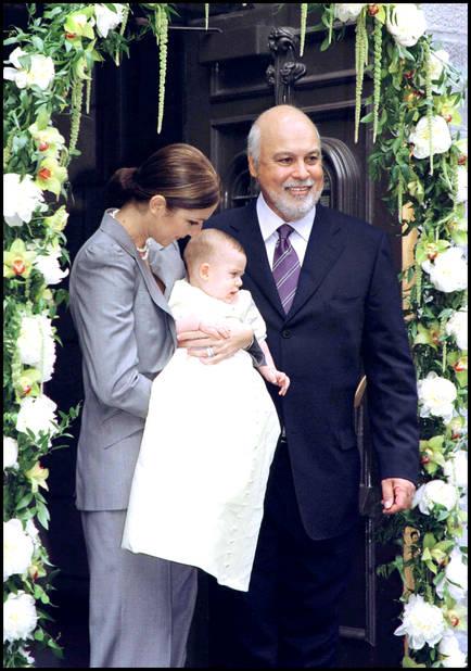 Baptême en 2001. René-Charles a 6 mois.