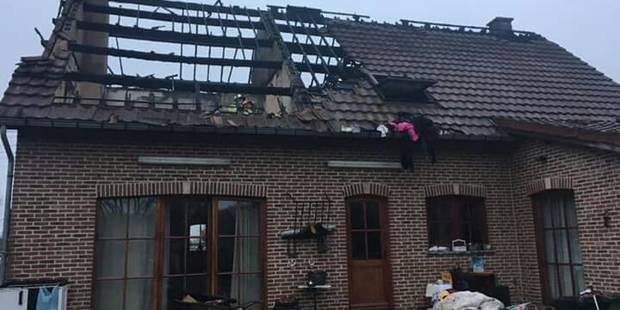 Violent incendie d'une villa à Anderlues - La DH