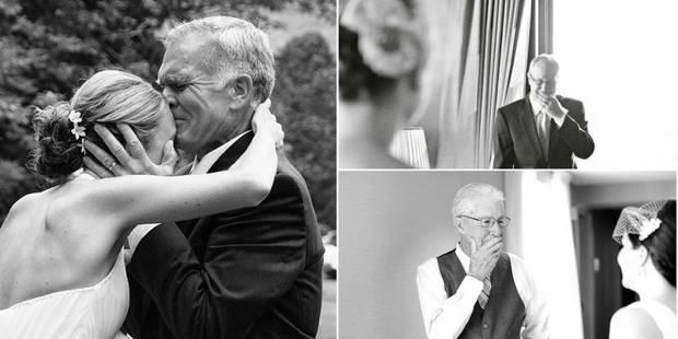 Ces premiers regards de papas sur leur mariée de fille vont vous émouvoir (PHOTOS) - La DH