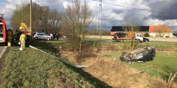 Thulin: spectaculaire accident au carrefour du Sardon - La DH