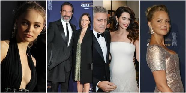 César 2017: Amal Clooney dévoile son baby bump, Lily-Rose très sexy et Dujardin officialise sur le tapis rouge - La DH