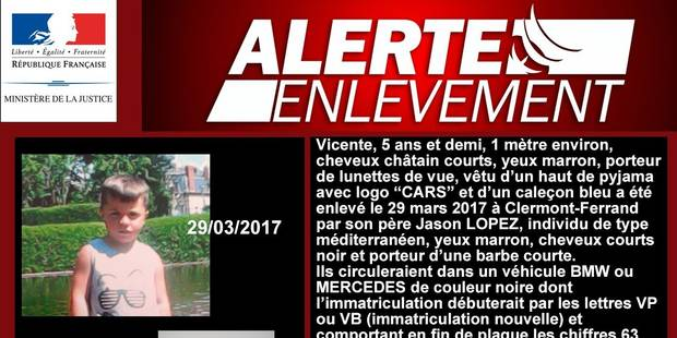 Alerte enlèvement en France : plus de 300 témoignages recueillis - La DH