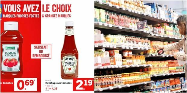 Les marques de distributeur sont deux fois moins chères que les marques nationales - La DH