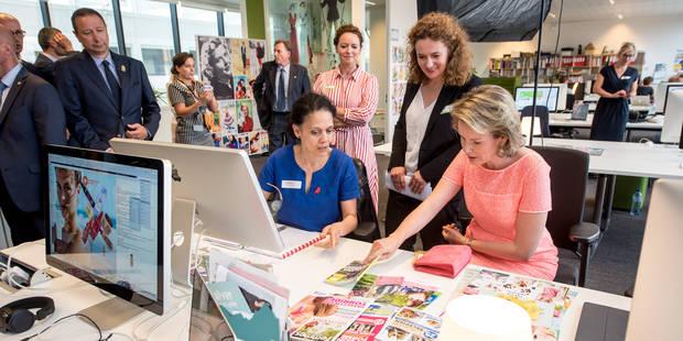 """La reine Mathilde a rendu visite aux équipes de """"Femmes d'Aujourd'hui"""" et """"Libelle"""" - La DH"""