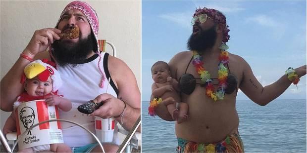 Ce papa se met en scène avec son bébé et fait le buzz sur Instagram (PHOTOS) - La DH