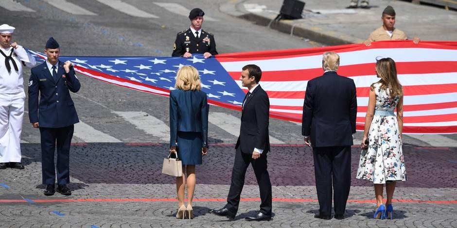 Trump officiellement accueilli par Macron aux Invalides