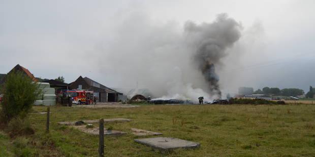 Incendie dans une ferme du Tournaisis (VIDEO) - La DH