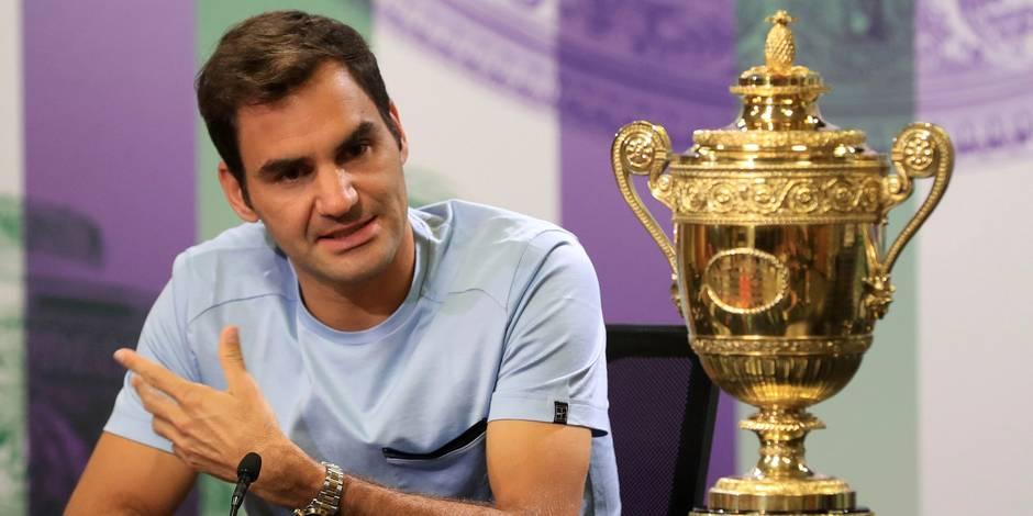 Federer après son triomphe à Wimbledon: