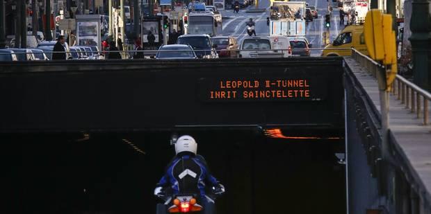 Le tunnel Léopold II à Bruxelles momentanément fermé - La DH