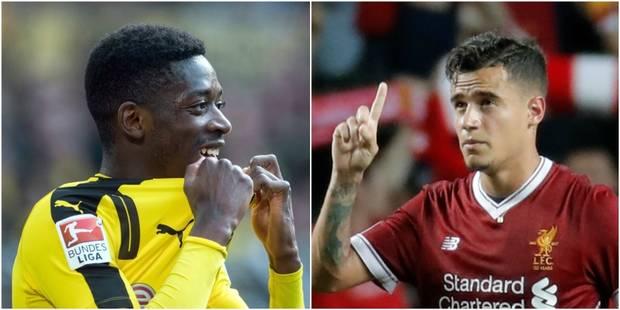 Barcelone annonce progresser dans les dossiers Coutinho et Dembélé, Dortmund réfute tout avancement pour son attaquant f...