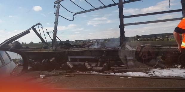 Vaux-sur-Sûre: un camion en feu perturbe la circulation sur la E25 - La DH