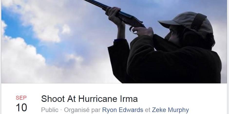 Un Américain crée un événement Facebook pour tirer sur l'ouragan — Irma