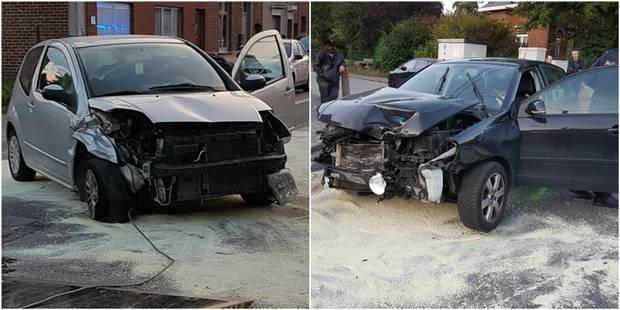 Deux blessés légers lors d'une collision à Trazegnies - La DH