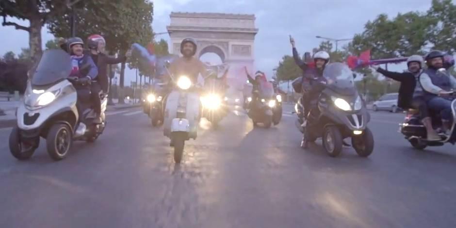 Nu sur les Champs-Elysées à cause de Neymar et Mbappé
