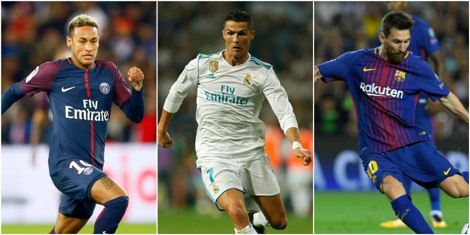 """Résultat de recherche d'images pour """"Messi Ronaldo Neymar pour le titre de joueur fifa 2017"""""""