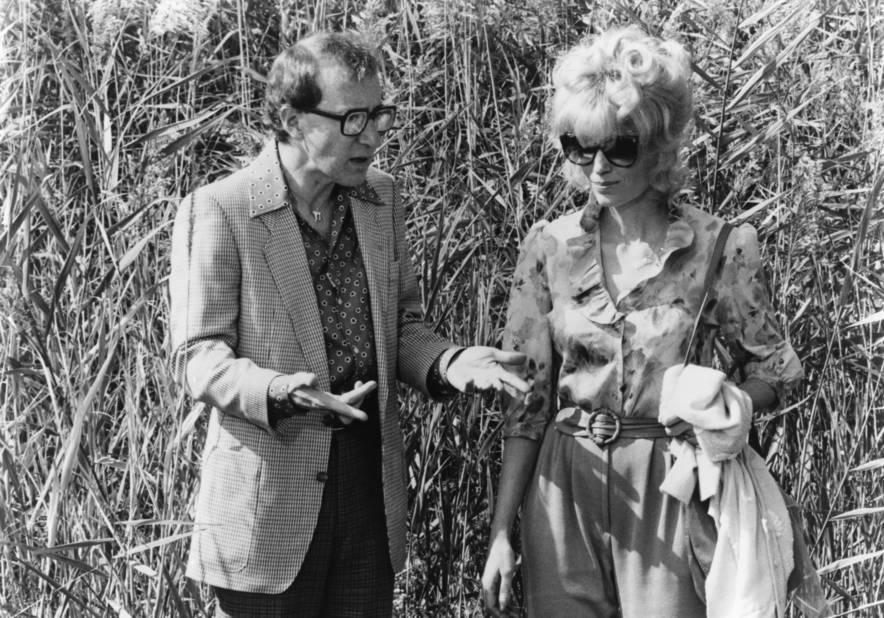 Avec Mia Farrow sur le tournage de Danny Rose en 1984.