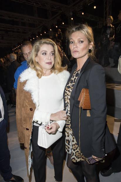 Catherine Deneuve et Kate Moss chez Saint Laurent