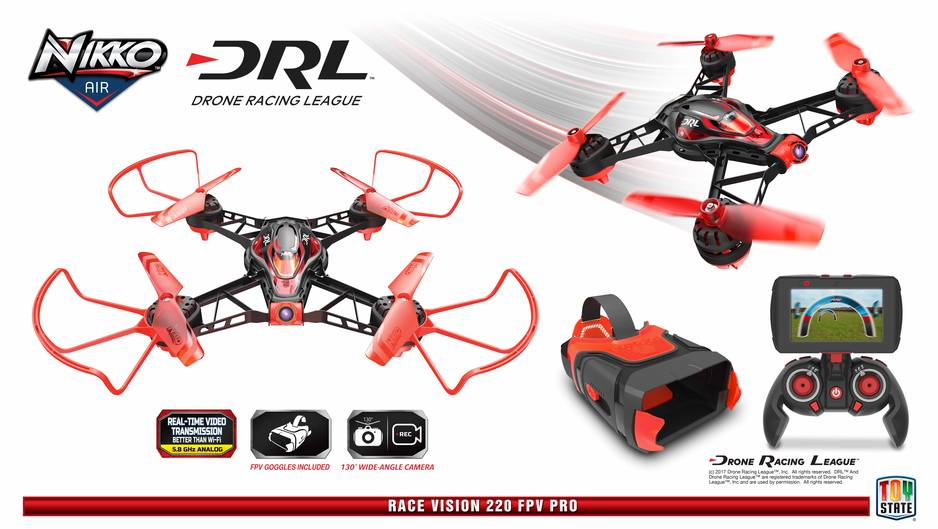 Drones : Nikko Air DRL Race Vision 220 FPV Pro drone - Toy State