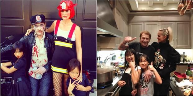 La famille Hallyday a souhaité Halloween en mode zombie - La DH