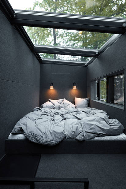La chambre du Vipp Shelter