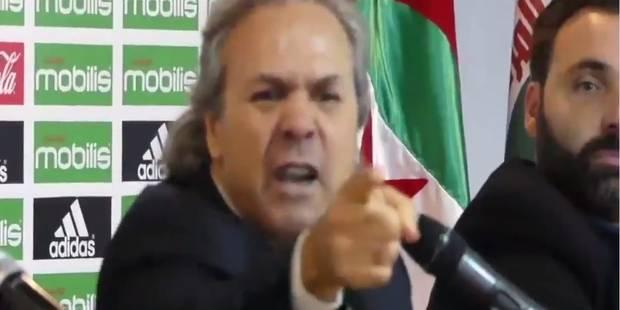 """""""Taisez-vous!"""": grosse querelle entre le sélectionneur algérien Rabah Madjer et un journaliste en pleine conférence de p..."""