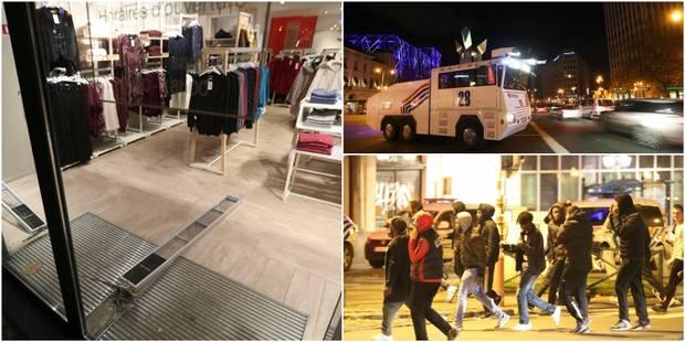 Débordements au coeur de Bruxelles: des magasins saccagés, 55 arrestations administratives et 16 judiciaires (PHOTOS ET ...