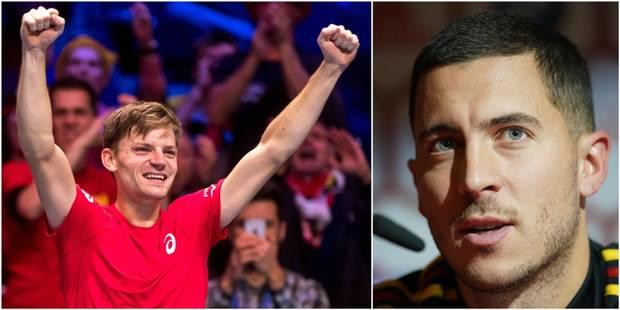 Eden Hazard félicite David Goffin après son triomphe (VIDEO) - La DH