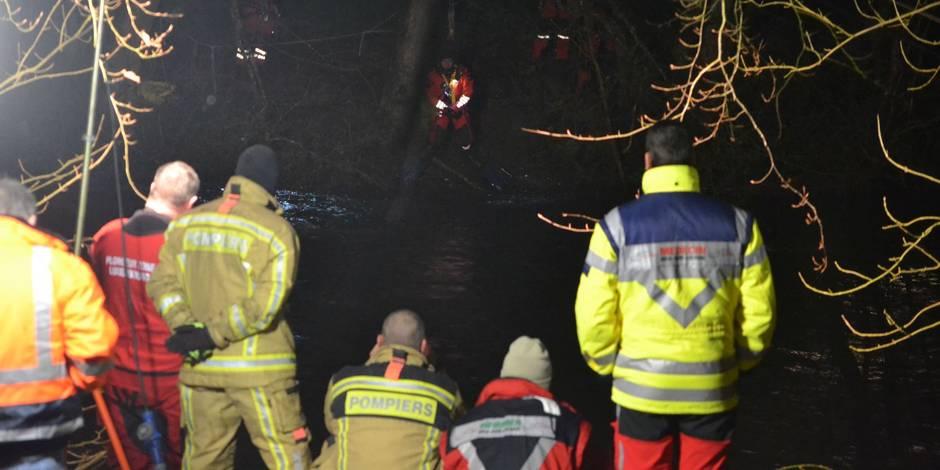 Une voiture est tombée dans l'Ourthe, l'occupant a perdu la vie — Durbuy