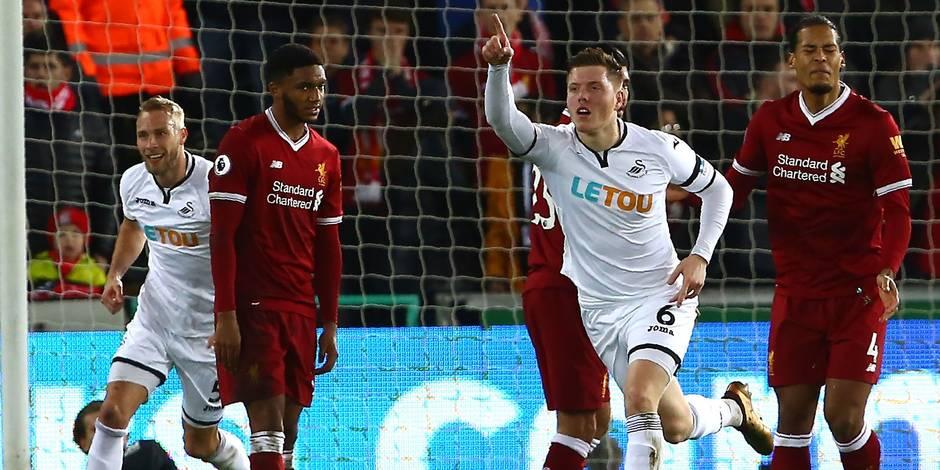 Liverpool tombe chez la lanterne rouge Swansea