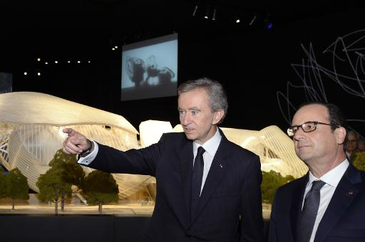 hollande inaugure le musee futuriste de la fondation vuitton