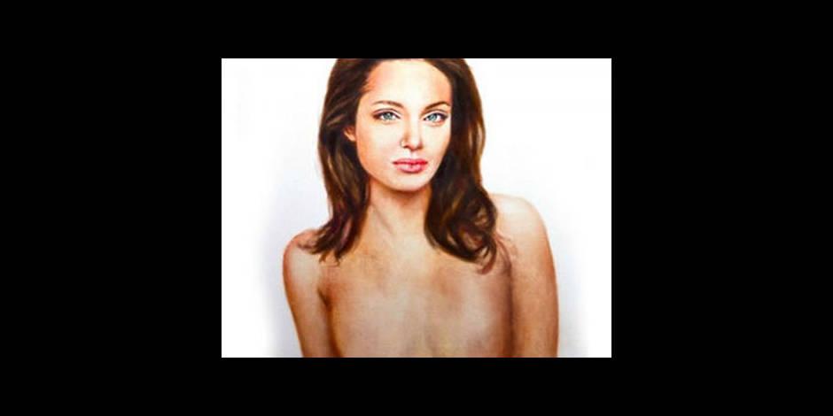 Un portrait d'Angelina Jolie sans ses seins