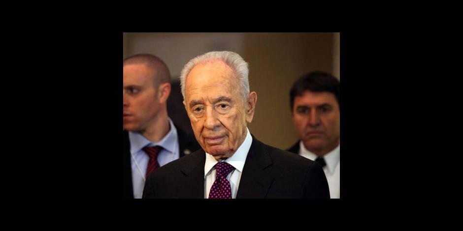 """Peres: """"réelle possibilité"""" de paix entre Israéliens et Palestiniens"""