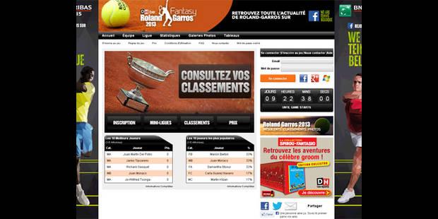 Jouez à notre grand jeu Fantasy Roland Garros et gagnez des cadeaux ! - La DH