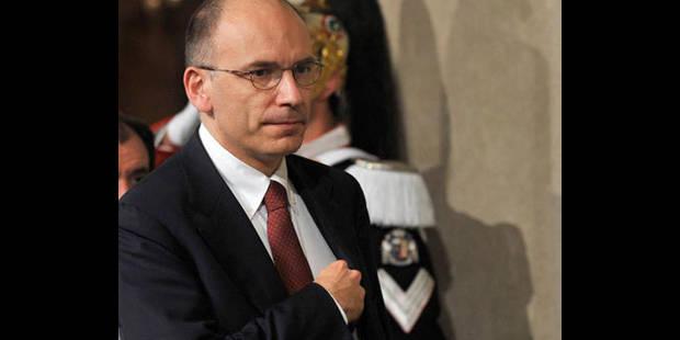 Letta chargé de former un gouvernement en Italie - La DH