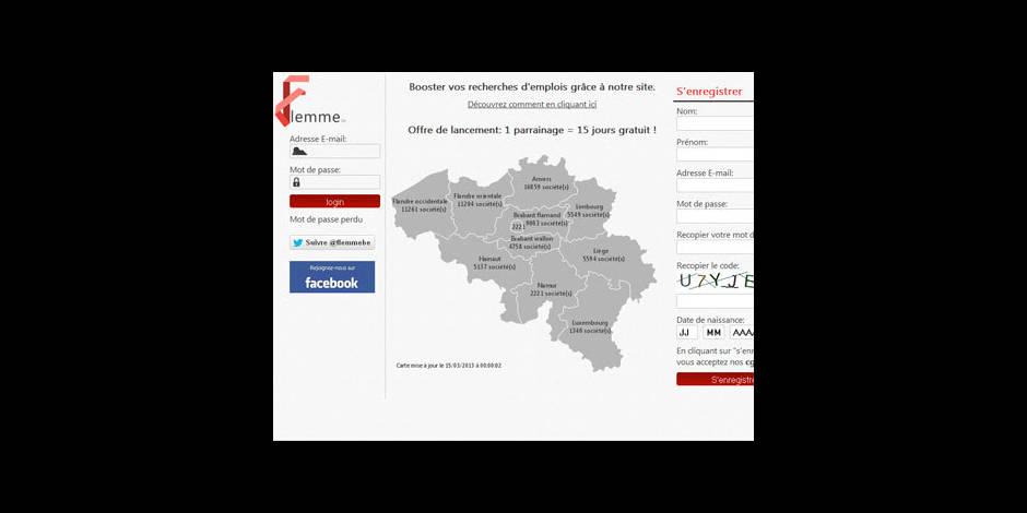 """""""Flemme.be"""", le site internet qui postule à la place des chômeurs"""