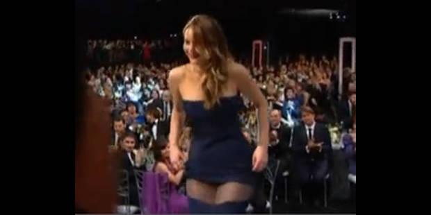 Jennifer Lawrence laisse tomber le bas ! - La DH